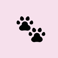 Animal footprint icon. flat design