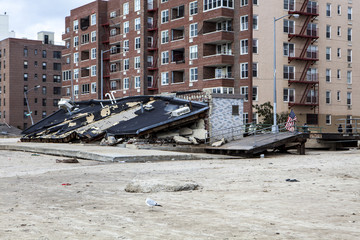 One of New York borough area after Hurricane Sandy
