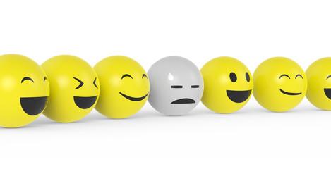 Smiley mit Burnout