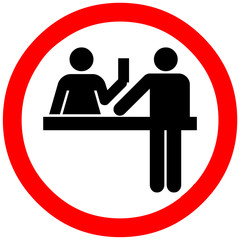 Cash allowed sign.Money symbol. Coin and paper money. Red notice sign.