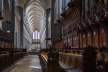 Interior View of Salisbury Cathedral