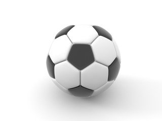 Soccer ball. Isolated object on white background. 3d render