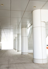 modern corridor in office centre.