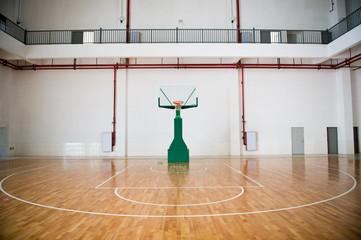 basketball court, school gym indoor.