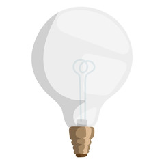 Cartoon lamp vector illustration lamp light isolated design drawing bulb object electricity equipment electric bright decoration icon power shape