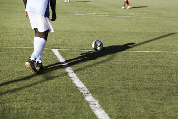 Football game grass