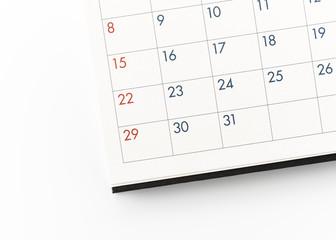 Deadline. Calendar on office desk table. with copy space.