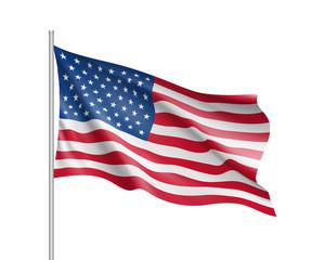 United State of America flag. Vector illustration.