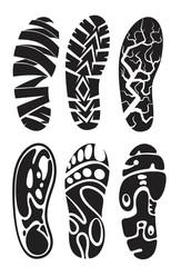 vector footprint sport