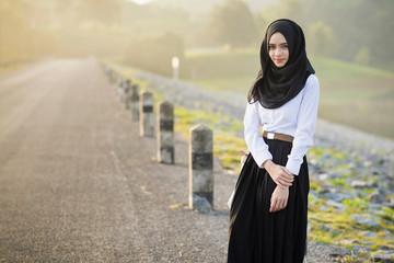 Portrait muslim girl.