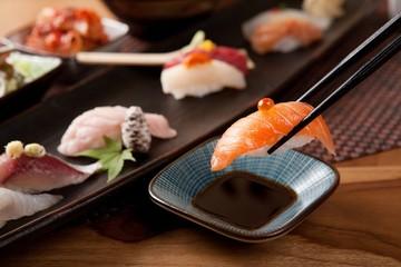 salmon sushi, 연어초밥