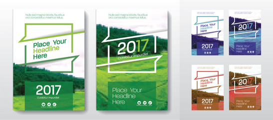 3 Color Schemes with City Background Business Book Cover Design Template set in A4. Can be adapt to Brochure, Annual Report, Magazine, Poster, Corporate Presentation, Portfolio, Flyer, Banner, Website