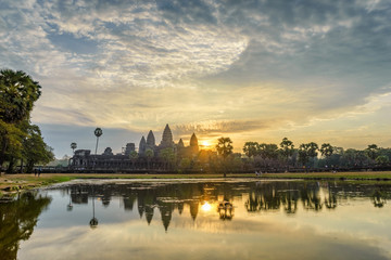 Angkor Wat when sunrise; Siem Reap, Cambodia