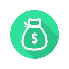 Money bag flat icon