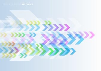 Flowing image_Arrows#Vector Background