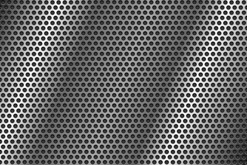 Metal perforated background. Round shaped holes