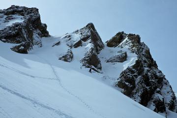 Climber on the mountain