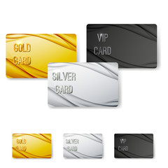 Modern wave abstract vip card collection