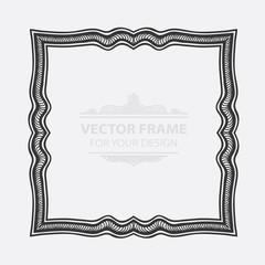 Vintage vector set retro frame, cards. Floral royal engraving design labels advertising place for text. Flourishes Line calligraphic Minimalist modernist picture background.