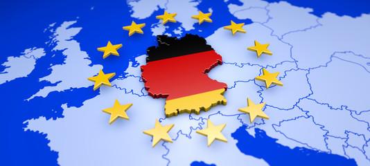 Deutschland und Europa - Konzept Demokratie, Einwanderung und Wirtschaft