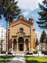 Exterior of Domnita Balasa church in Bucharest, Romania