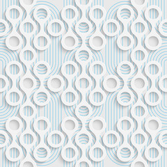 Seamless Volume Pattern. Abstract Background