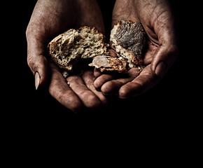 Hands of beggar