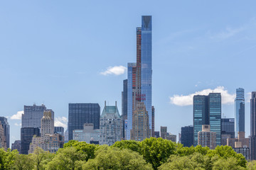 Foto op Canvas Oceanië New York City Manhattan skyline panorama view from Central park.