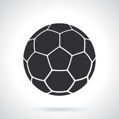 Vector illustration. Silhouette of soccer ball. Sports equipment. Patterns elements for greeting cards, wallpapers
