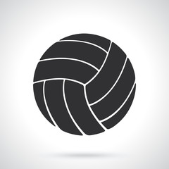 Vector illustration. Silhouette of volleyball ball. Sports equipment. Patterns elements for greeting cards, wallpapers