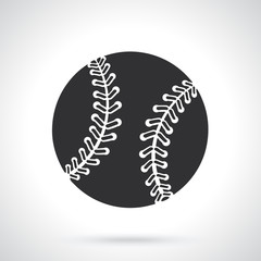 Vector illustration. Silhouette of baseball ball. Sports equipment. Patterns elements for greeting cards, wallpapers