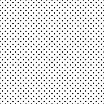 Seamless polka dot pattern on a white background