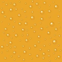 Pattern beer bubbles. Vector flat illustration.