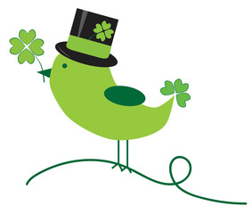 Saint Patricks Day Bird