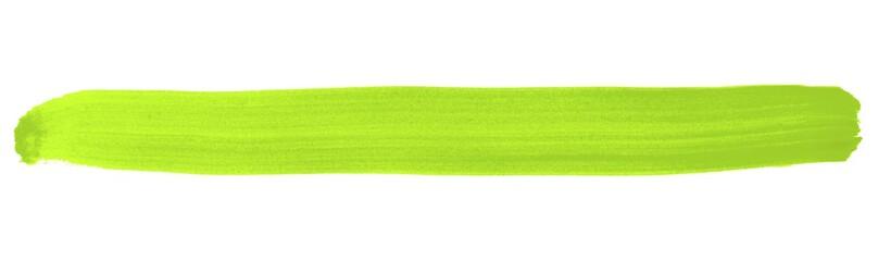 Grüner isolierter Streifen aus Tusche