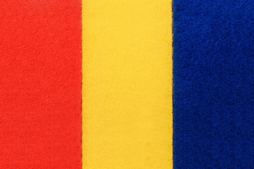 Three rectangles of blue, yellow and red
