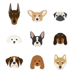 犬の顔セット