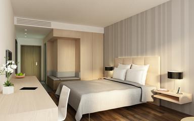 Hotelzimmer P1 creme