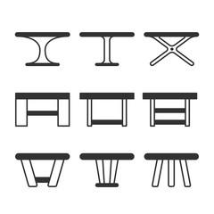 dinner table icon kitchen furniture