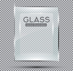 Glass Plate Isolated On Transparent Background.