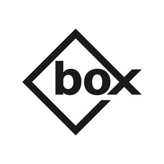box logotype. logo vector.