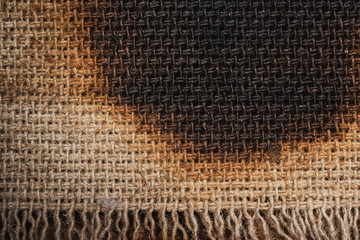 burned canvas