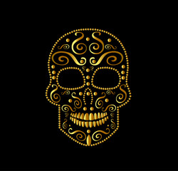 SKull vector icon ornament for fashion desig, background or pattern