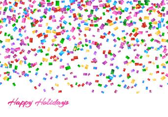 Festival background with confetti explosion