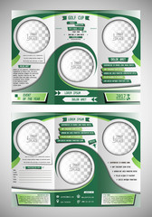 Golf cup tri fold brochure