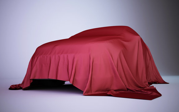 car covered with red velvet