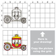 Copy the image using grid, the simple educational kid game.