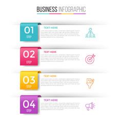 Infographic template for four options , steps or process. Perfect for workflow layout, annual report, business concept