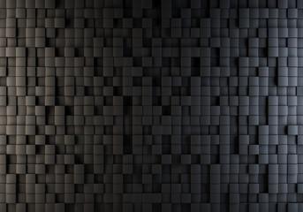 Black cubes randomly pushed out background.