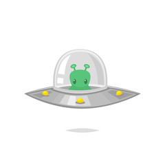 UFO alien cartoon vector